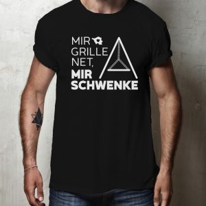 Mir Grille Net, mir Schwenke - Schwarzes Saarland T-Shirt